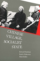 Backward toward revolution; the Chinese Revolutionary PartyChinese village, socialist state