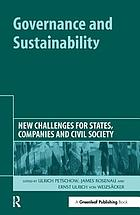 Governance and sustainability : new challenges for states, companies and civil society