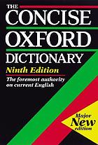 The Concise Oxford dictionary of current English : based on the Oxford English dictionary and its supplements