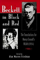 Beckett in black and red : the translations for Nancy Cunard's Negro (1934)