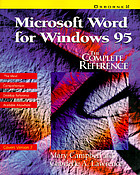 Microsoft Word for Windows 95 : the complete reference