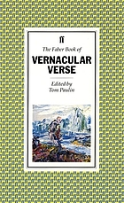 The Faber book of vernacular verse