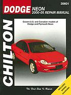 Chilton's Dodge Neon 2000-05 repair manual