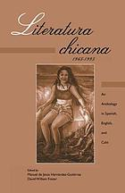 Literatura chicana, 1965-1995 : an anthology in Spanish, English, and Caló