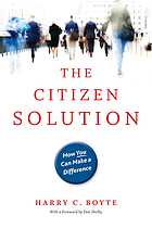 The citizen solution : how you can make a difference
