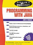 Schaum's outline of theory and problems of programming with Java