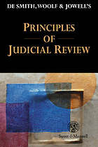 De Smith, Woolf & Jowell's principles of judicial review