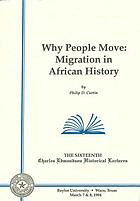 Why people move : migration in African history