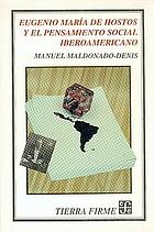 Eugenio María de Hostos y el pensamiento social iberoamericano