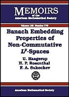 Banach embedding properties of non-commutative Lp-spaces