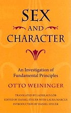 Sex and character : an investigation of fundamental principles