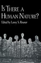 Is there a human nature?