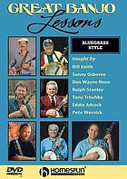 Great banjo lessons : bluegrass style