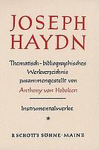 Joseph Haydn : thematisch-bibliographisches Werkverzeichnis