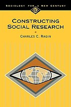 Constructing social research : the unity and diversity of method