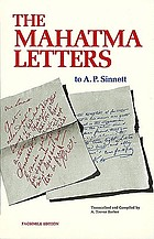 The Mahatma letters to A.P. Sinnett from the Mahatmas M. & K.H.