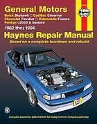 General Motors J-cars automotive repair manual