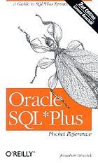 Oracle SQL*Plus : pocket reference