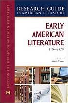Research guide to American literature