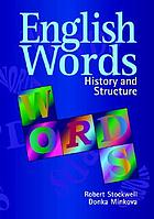 English words : history and structure