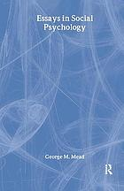 Essays in social psychology