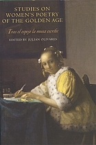 Studies on women's poetry of the golden age : tras el espejo la musa escribe