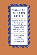 Voices of modern Greece : selected poems