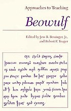 Approaches to teaching Beowulf