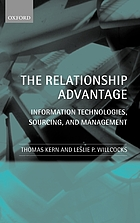 The relationship advantage : information technologies, sourcing, and management