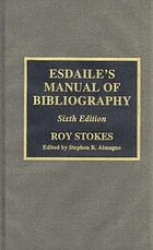 Esdaile's manual of bibliography