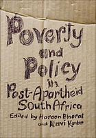 Poverty and policy in post-apartheid South Africa