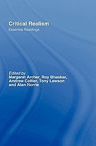 Critical realism : essential readings