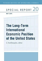 The long-term international economic position of the United States