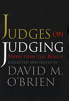 Judges on judging : views from the bench