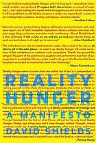 Reality hunger : a manifesto