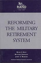 Reforming the military retirement system