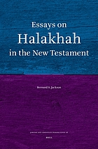 Essays on Halakhah in the New Testament