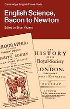 English science, Bacon to Newton
