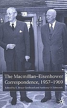The Macmillan-Eisenhower correspondence, 1957-1969