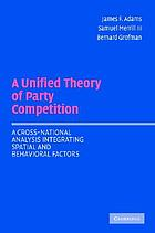 A unified theory of party competition : a cross-national analysis integrating spatial and behavioral factors
