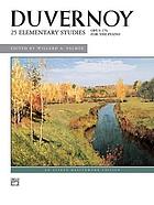 25 elementary studies : opus 176