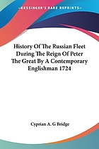History of the Russian fleet during the reign of Peter the Great