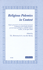 Religious polemics in context : papers presented to the Second International Conference of the Leiden Institute for the Study of Religions (Lisor) held at Leiden, 27-28 April, 2000