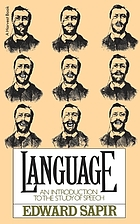 Language : an introduction to the study of speech Language