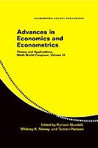 Advances in economics and econometrics : theory and applications : ninth world congress