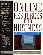 Online resources for business : getting the information your business needs to stay competitive