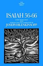 Isaiah 56-66 : a new translation with introduction and commentary