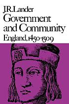 Government and community, England, 1450-1509