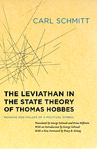 The Leviathan in the state theory of Thomas Hobbes : meaning and failure of a political symbol