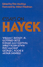 Essays on Hayek
